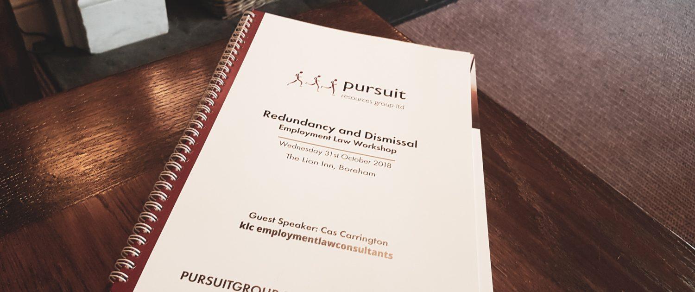 Redundancy and Dismissal employment law workshop